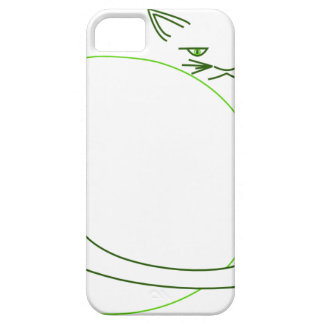 Shades of Green Cat Minimalist (iPhone 5/s) iPhone 5 Cases