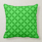 Shades of Green Circle of Life Pattern Throw Pillow (<em>$49.60</em>)