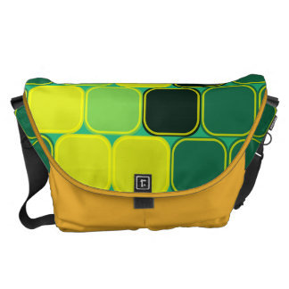 Shades of green courier bag