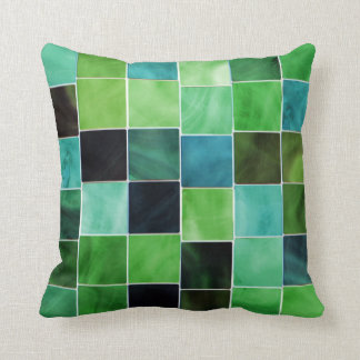 Shades of Green Decorative Modern Throw Pillow