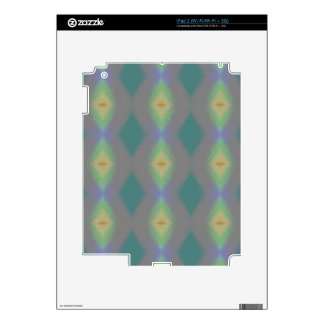 Shades of Green Diamond  Shaped Fractal Pattern Decal For iPad 2