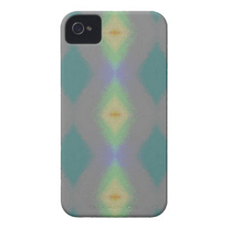 Shades of Green Diamond  Shaped Fractal Pattern iPhone 4 Case