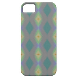 Shades of Green Diamond  Shaped Fractal Pattern iPhone SE/5/5s Case