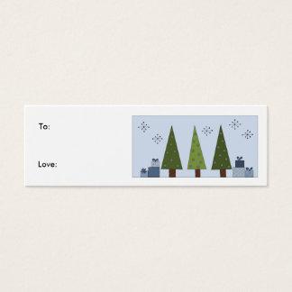 Shades of Green - gift tag