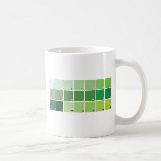 Shades of Green Grid Mug
