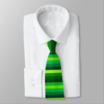 Shades of Green Horizontal Stripes Tie