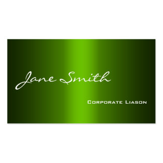 Shades of Green Modern Professional Business Cards