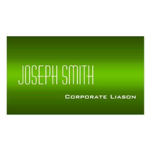 Shades of Green Modern Standard Business Cards