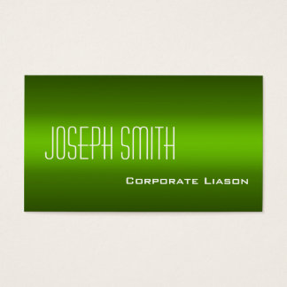 Shades of Green Modern Standard Business Cards