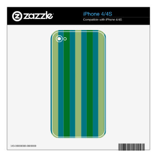 Shades of Green on iPhone 4/4S Skin iPhone 4 Decal