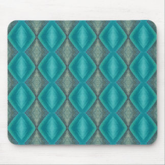 Shades of Green Pattern Mouse Pad