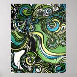 Shades of Green Print