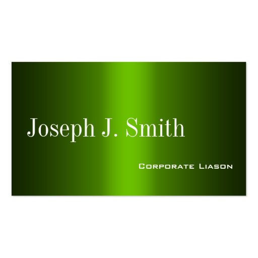 Shades of Green Professional  Business Cards