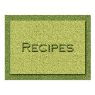 Shades of Green Recipe Card