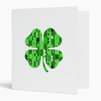 shades of green shamrock striped png binder
