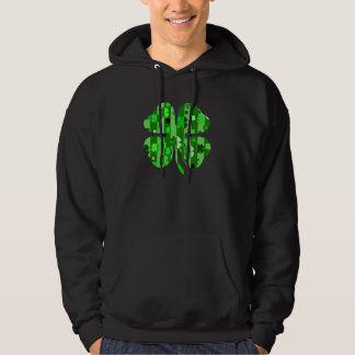 shades of green shamrock striped.png hoodie