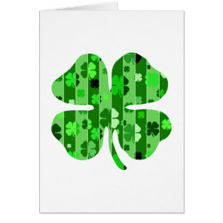 shades of green shamrock striped.png stationery note card