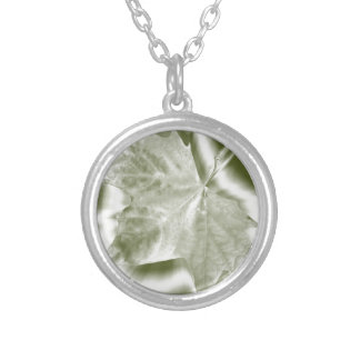 shades of green silver plated necklace
