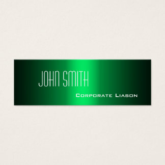 Shades of Green Skinny Business Cards