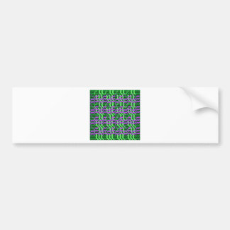 Shades of Green Sparkle Energy Bumper Sticker