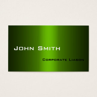 Shades of Green Standard Business Cards