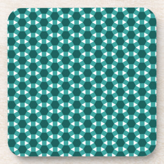 Shades of Green Tiled Tessellation Pattern Coaster