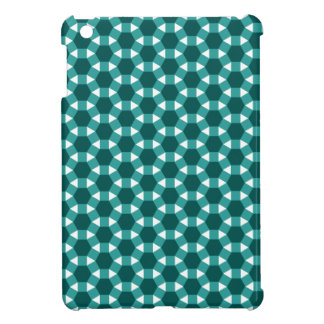 Shades of Green Tiled Tessellation Pattern iPad Mini Cases