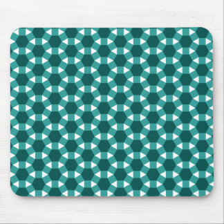 Shades of Green Tiled Tessellation Pattern Mouse Pad
