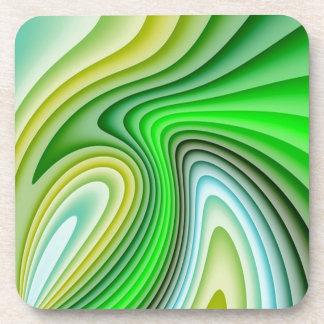 Shades Of Green Waves Coaster