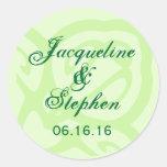 SHADES OF GREEN Wedding Envelope Sticker