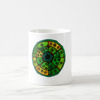 Shades of green wheel mug