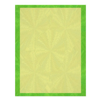 Shades of Green Yellow - add your words n image Letterhead
