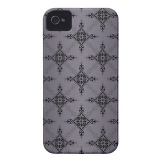 Shades of Grey Damask Pattern iPhone 4 Case-Mate Cases