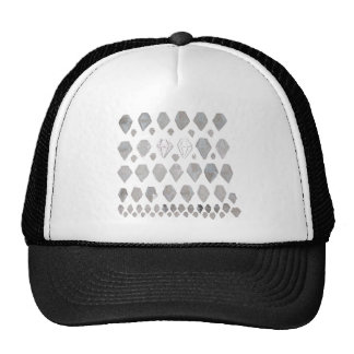 Shades of Grey Diamonds Abstract Art Design Cap