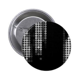 Shades Of Grey Dot Pattern 2 Inch Round Button
