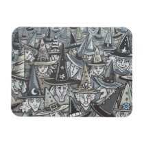 SHADES OF GREY HALLOWEEN WITCH GATHERING MAGNET