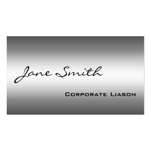 Shades of Grey Modern Professional Business Cards Business Card
