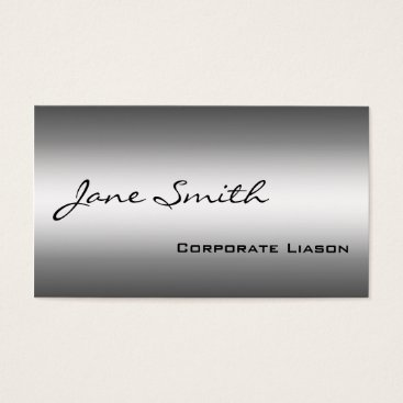 Professional Business Shades of Grey Modern Professional Business Cards