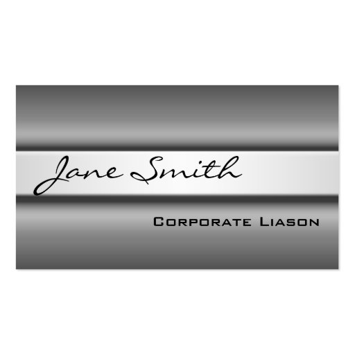 Shades of Grey Modern Standard Business Cards