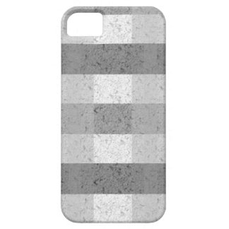 Shades of Grey Plaid iPhone 5/5S Cover