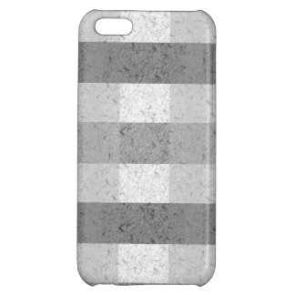 Shades of Grey Plaid Case For iPhone 5C