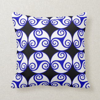 """Shades of Life""1 w/Triple Spiral throw pillow"