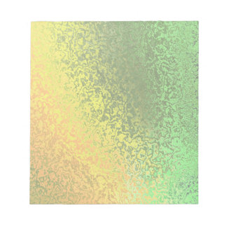 Shades of Light Yellow and Green Notepad