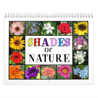 Shades of Nature Floral Collage Any Year Calendar