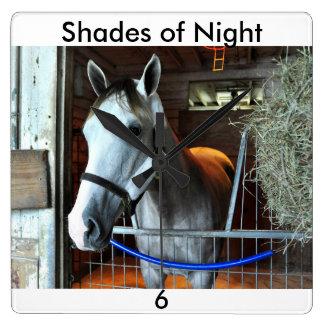 Shades of Night Square Wall Clock