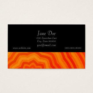 Shades of Orange Bright Striped Flower Design Business Card