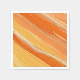 Shades of Orange Paper Napkin
