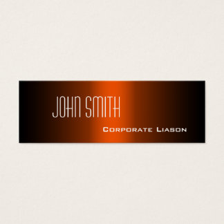Shades of Orange Skinny Business Cards