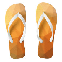 Shades of Orange Triangle Abstract Flip Flops
