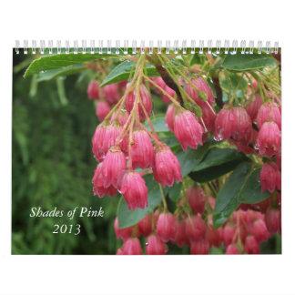 Shades of Pink 2013 Floral Calendar